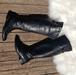 Breckelle's 8 Knee High Pirate Boots Flat Heel
